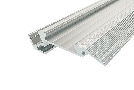 Профиль для ступеней алюминиевый PDS-1867-2 Anod для светодиодной ленты