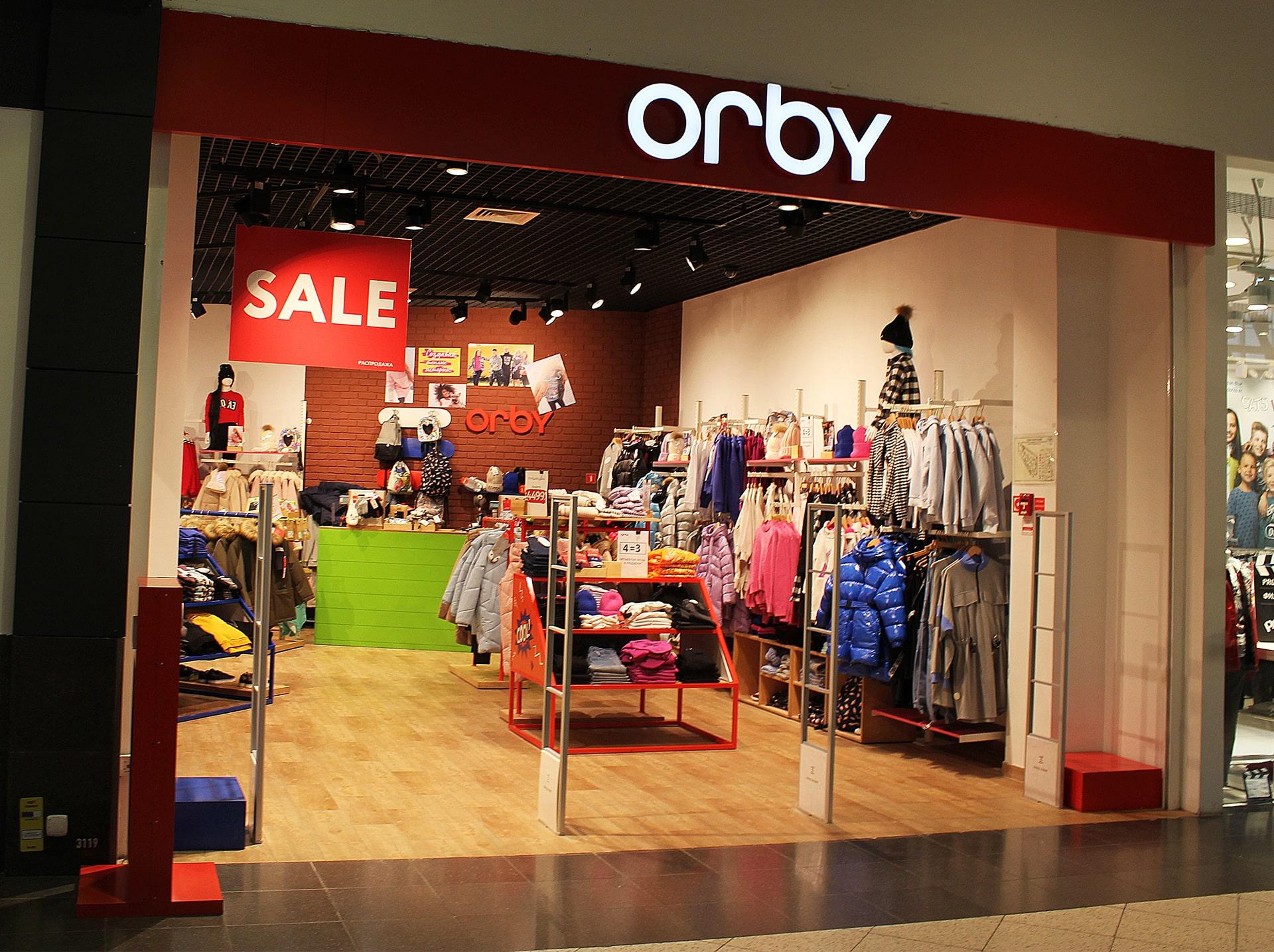 Освещение магазина Orby в Мега