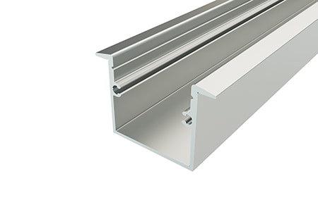 Профиль врезной алюминиевый LPV-2537-2 Anod для светодиодной ленты