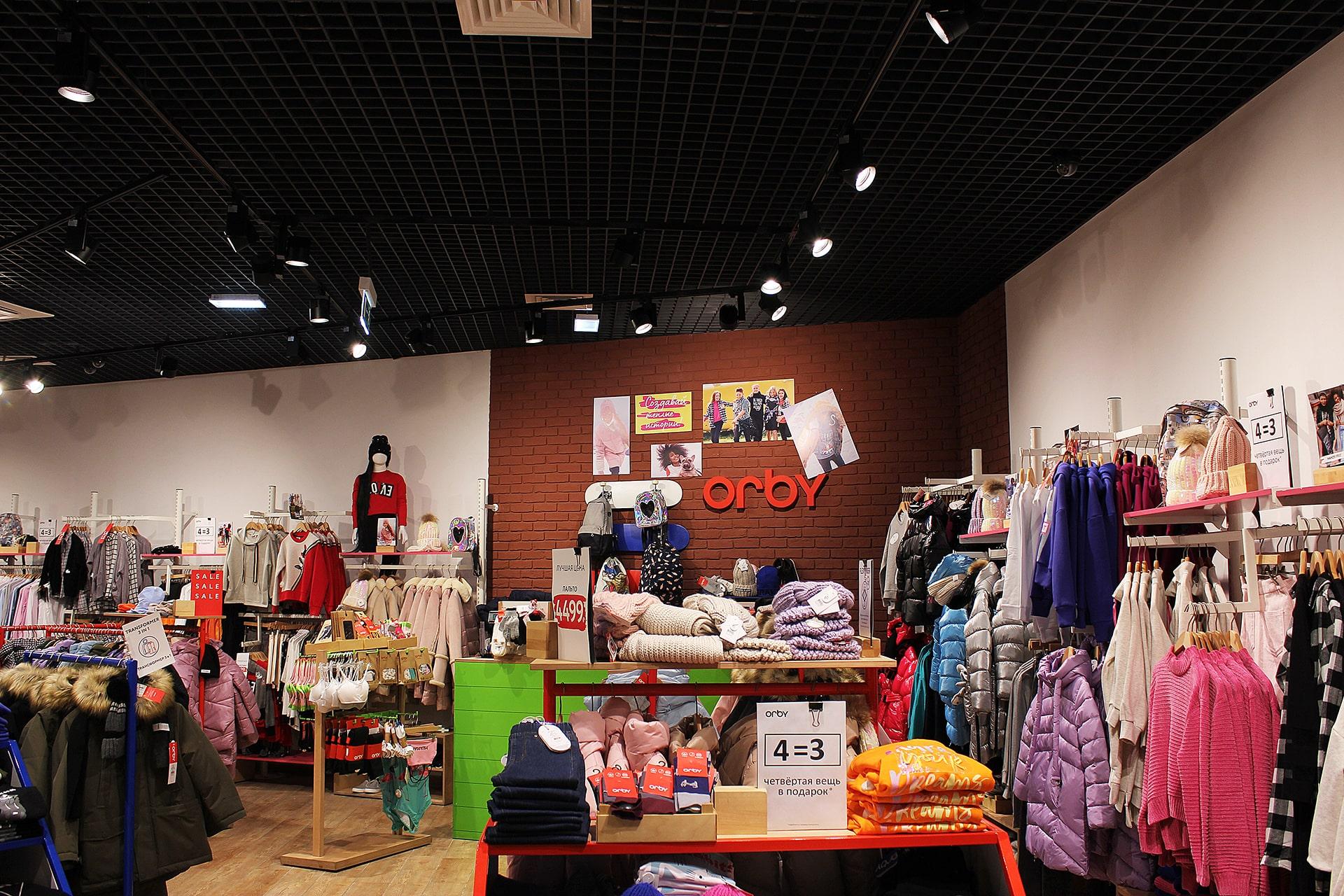 Освещение кассовой зоны в магазине