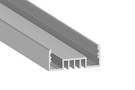 Профиль накладной алюминиевый LSO-1234-2 Anod для светодиодной ленты