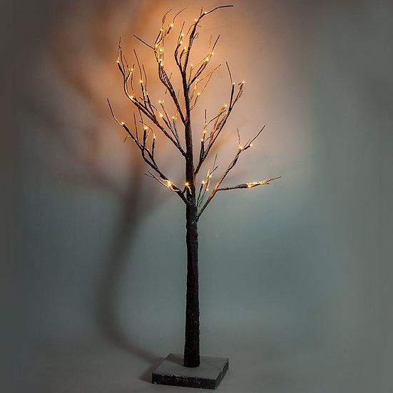 Светодиодное дерево с подсветкой, работающее от сети, цвет свечения теплый белый