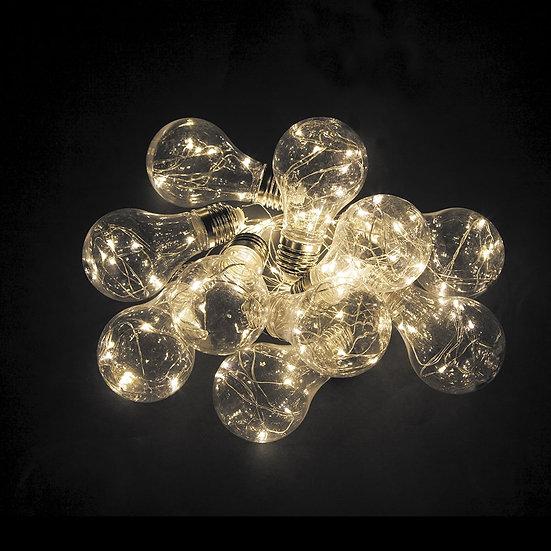 Светодиодная гирлянда для декора - лампочки теплый белый