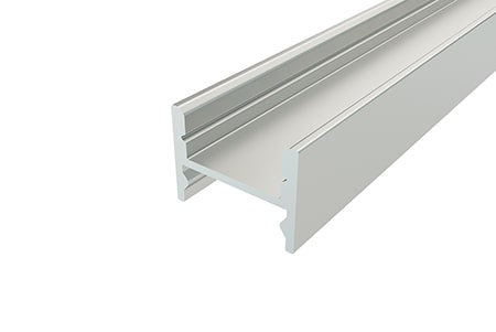 Профиль накладной алюминиевый LPS-1216-2 Anod для светодиодной ленты