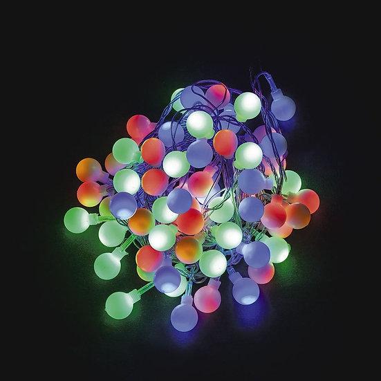 Светодиодная гирлянда - мульти-шарики