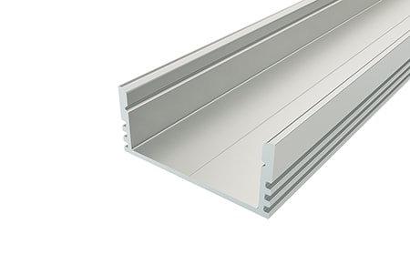 Профиль накладной широкий алюминиевый LP-1228-2 ANOD для светодиодной ленты