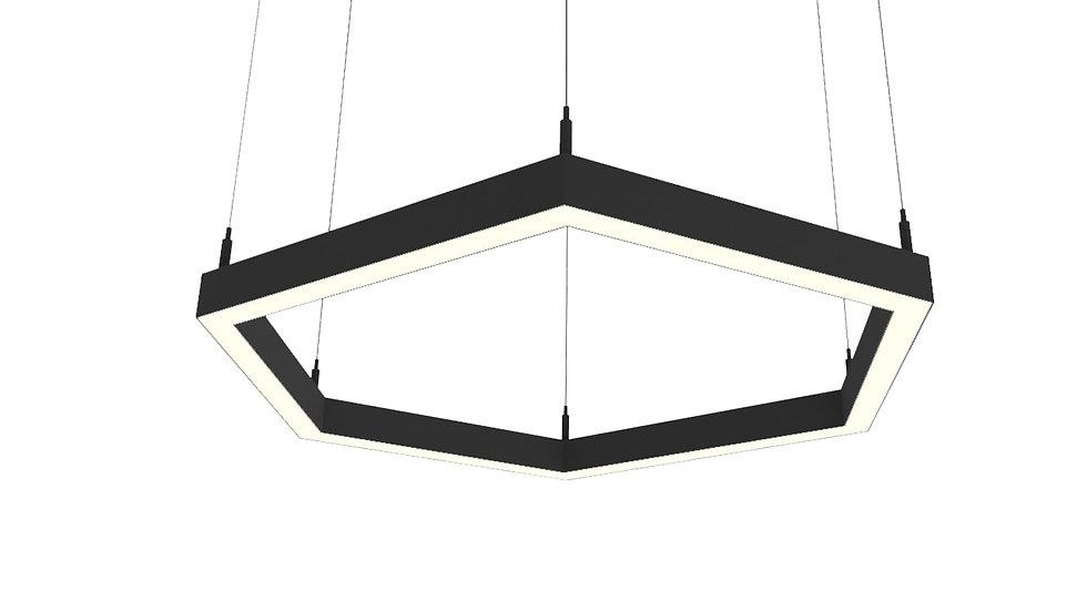 Светодиодный светильник HEX LINE от 42 W до 131 W для интерьерного освещения