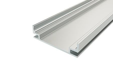 Профиль для стен встраиваемый алюминиевый LPV-1035-2 Anod для светодиодной ленты