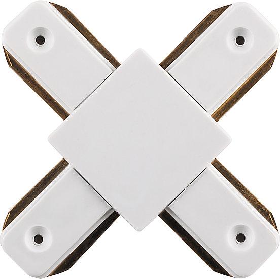 Коннектор X-образный для однофазного трекового шинопровода