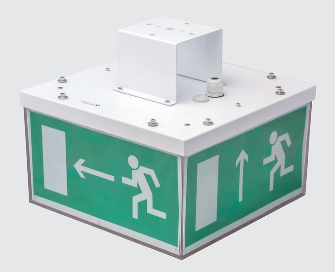 Эвакуационный аккумуляторный светильник Cube IP40 для аварийного освещения