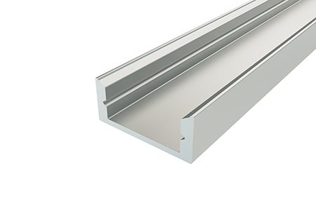 Профиль накладной алюминиевый LP-0716-2 Anod для светодиодной ленты.