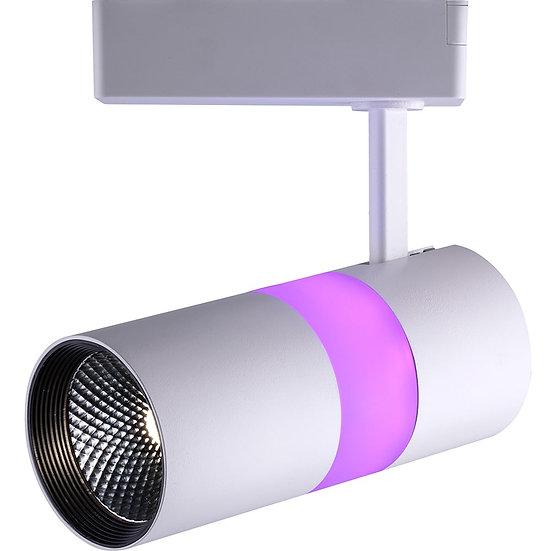 Трековый светодиодный светильник AL 108 однофазный 12 W + 5 W с подсветкой