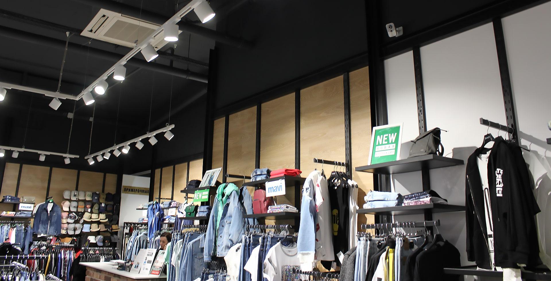 Общее и акцентное освещение магазина