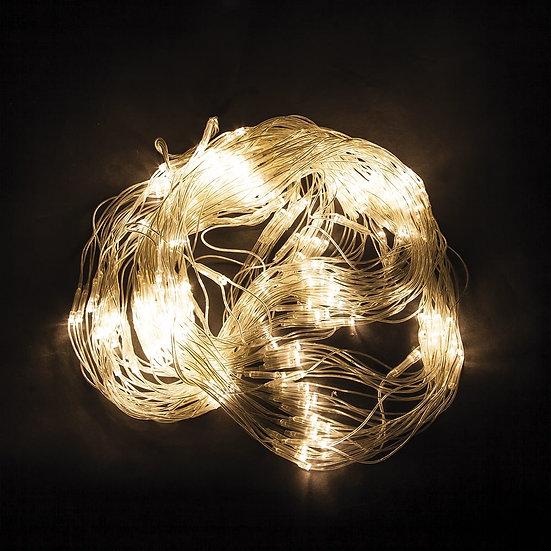 Светодиодная гирлянда - сеть теплый белый