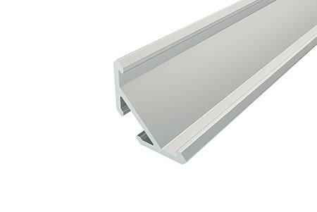 Профиль угловой алюминиевый LSU-1515-2 Anod для светодиодной ленты