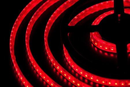 Светодиодная лента SMD 3528 IP68 120 LED 12 V Epoxy красный