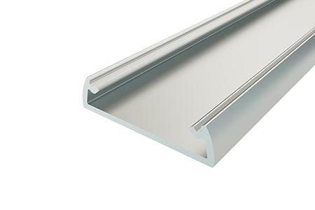Профиль накладной алюминиевый LP-0624-2 Anod для светодиодной ленты.