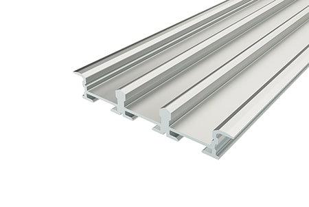 Профиль врезной алюминиевый тройной LP-0950-2 Anod для светодиодной ленты