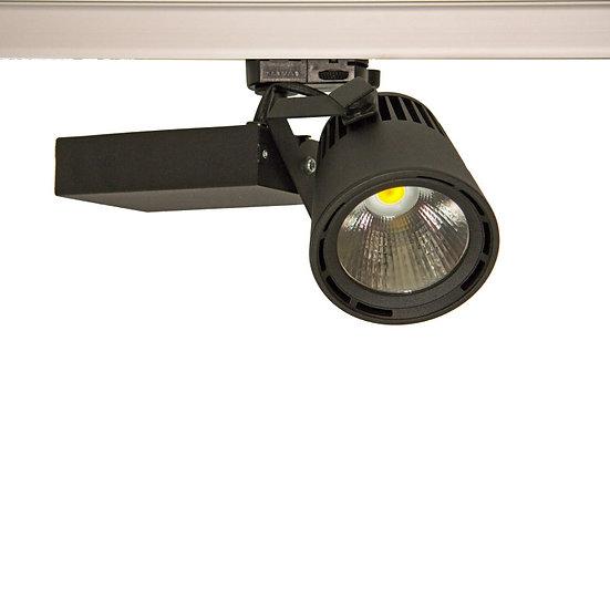 Трековый светодиодный светильник Glider Mini LED 35 W для освещения магазинов черный
