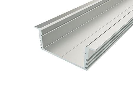 Профиль врезной широкий алюминиевый LPV-1234-2 Anod для светодиодной ленты
