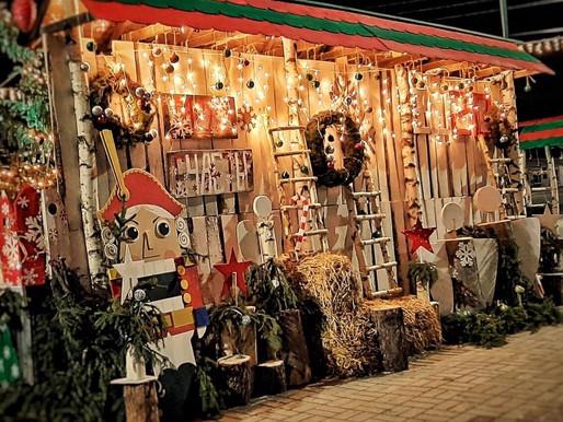Новогодняя подсветка центральной площади г. Таруса