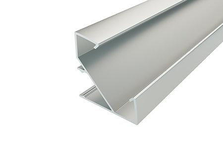 Профиль угловой алюминиевый LPU-3333-2 Anod для светодиодной ленты