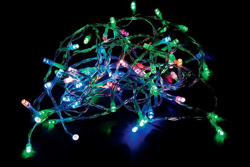 Светодиодная гирлянда - линия 230 V разноцветная