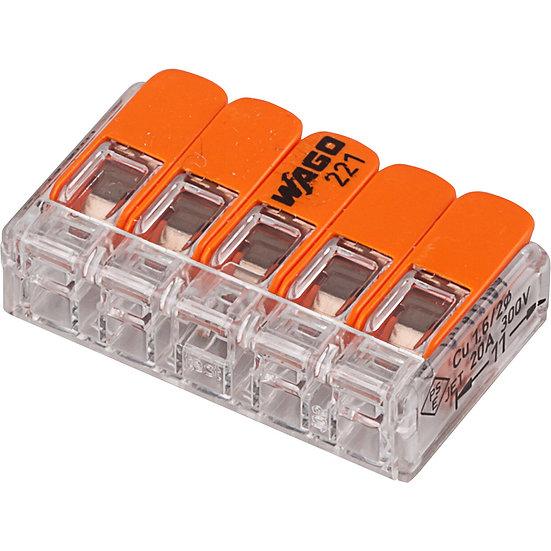 Универсальные компактные клеммы 5-проводные WAGO