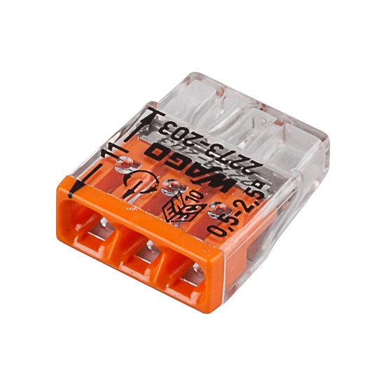 Клеммы для распределительных коробок без конт. пасты, 3-проводные WAGO
