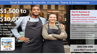 $1,500 to $10,000 per month is Available for Small Businesses and Nonprofits! REGISTER NOW!