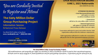 SIXTY MILLION DOLLAR Group Purchasing Project - Nationwide Registration Tour Schedule