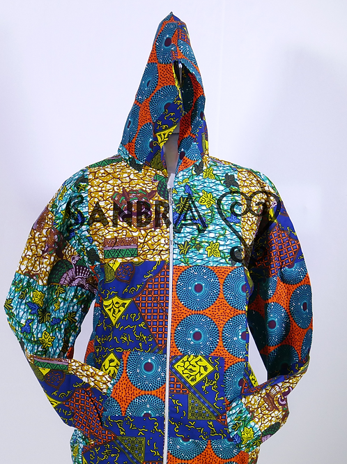 African Ankara Hoodie