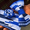 Thumbnail: Cobalt Blue and White Kente Bow Tie Set