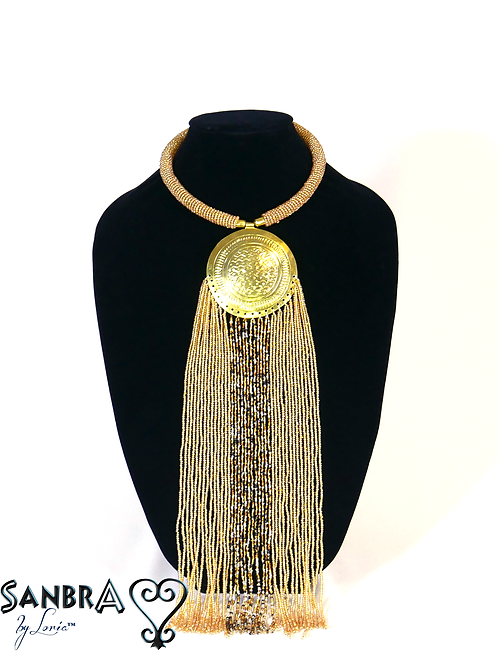Full Moon Gold Tribal Necklace