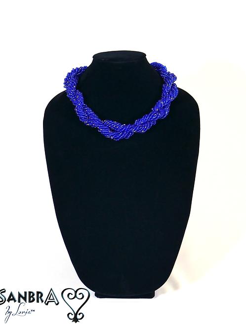 Cobalt Blue Tribal Necklace