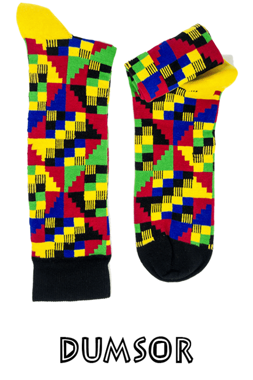 Dumsor Kente Socks