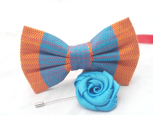 Aqua, Turquoise and Teal Kente Bow Tie Set
