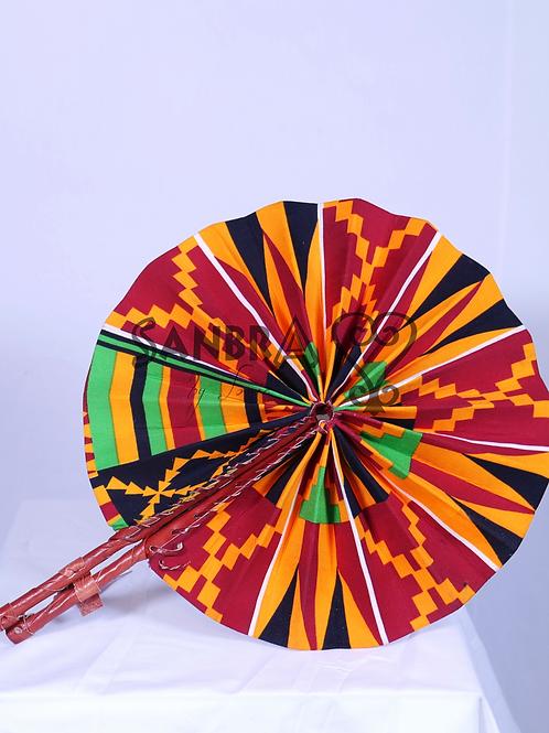 Genuine Leather African Fan