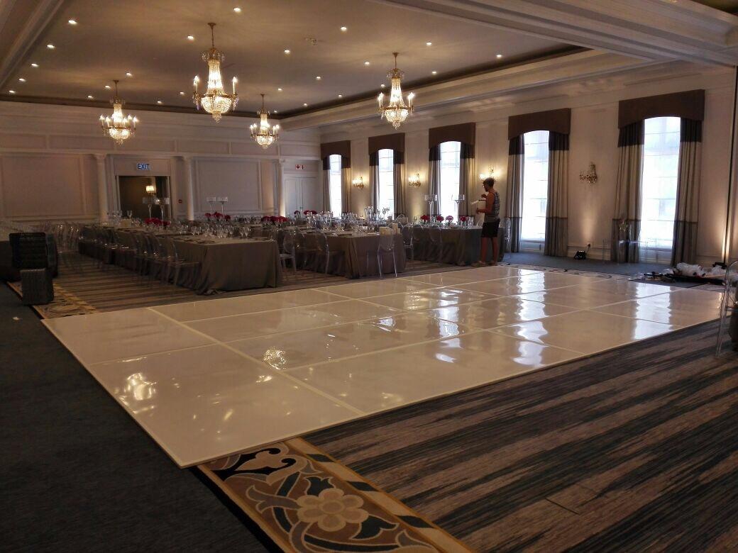 High gloss white dance floor 2