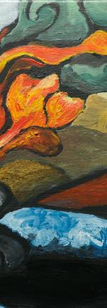 Paysage en feu