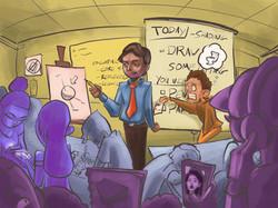 Highschool Teacher Illustration