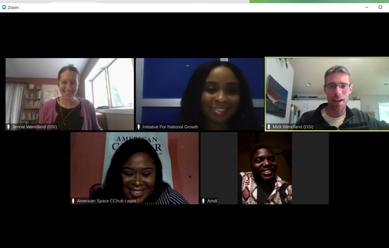 Image of DSI and ING coordinating team members meeting together online