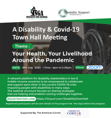 Digital town hall meeting poster