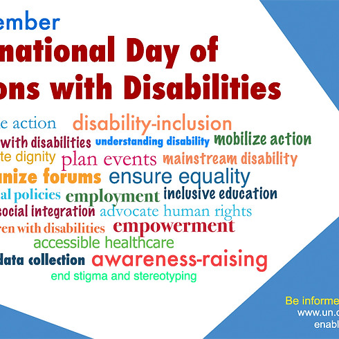 Int'l Day of Persons with Disabilities