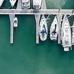 Luftfoto av Marina
