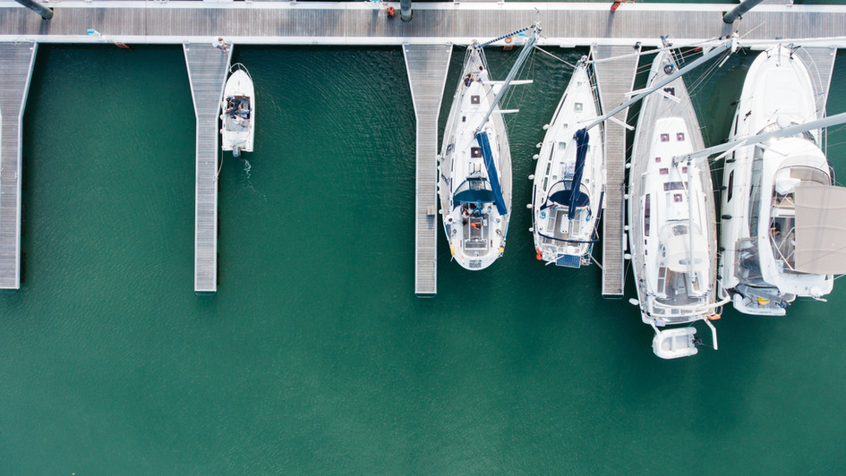 Aerial Photo of a Marina