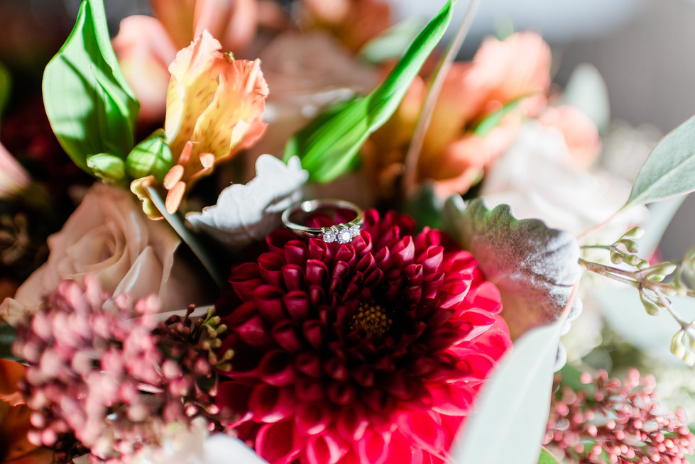 Alicia's flowers and ring