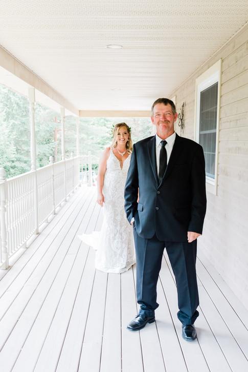 First Look - Durham Wedding photographed by Hamilton Wedding Photographer