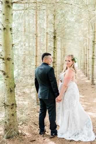 First Look - Durham Wedding