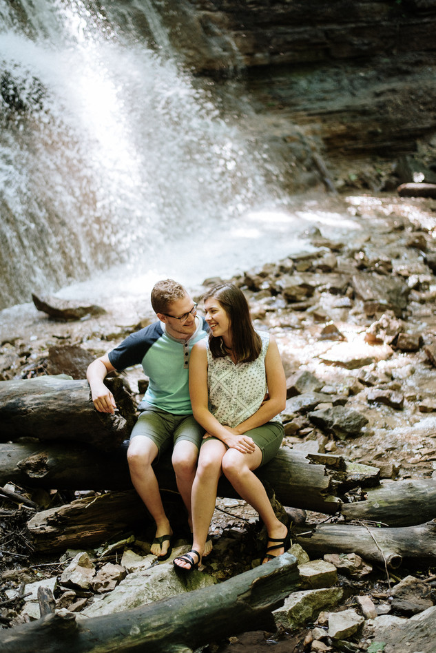Hamilton Engagement Photographer - Sherman Falls